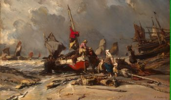 After a Storm | Isabey Louis Gabriel Eugene | oil painting