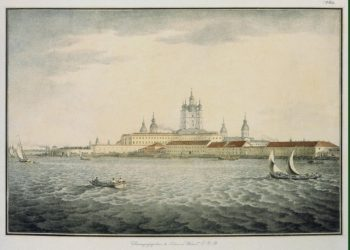 View of the Neva by the Smolny Cathedral | Shiflard Samuil (Solomon) Petrovich | oil painting