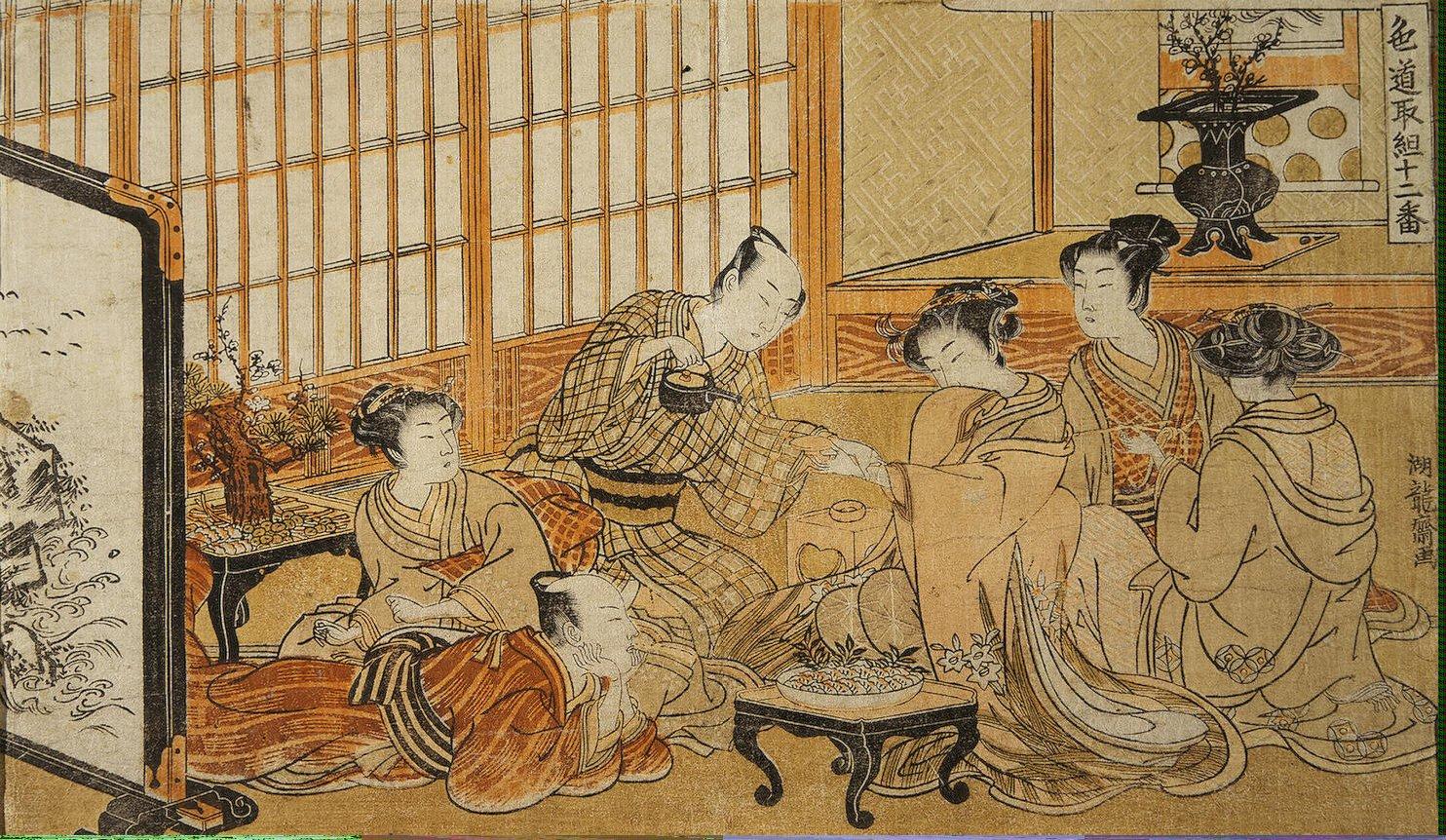 Kết quả hình ảnh cho japanese tea painting