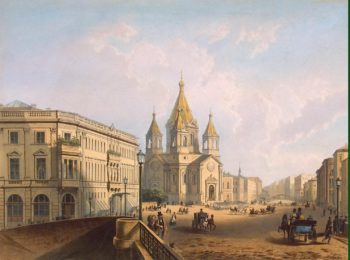 View of Blagoveshchenie (Annunciation) Square | Jacottet Louis Julienn Bachelier Charles Claude | oil painting
