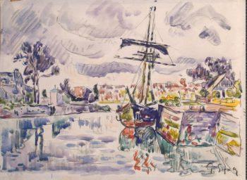 Sailboat at a Pier | Signac Paul | oil painting