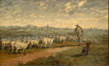 Landscape with a Herd | Jacque Charles Emile | oil painting