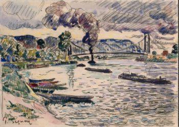Suspension Bridge in Les Andelys | Signac Paul | oil painting