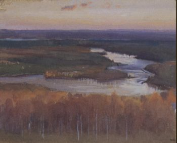 Autumn Landscape with a River | Jarnefelt Eero Nicolai | oil painting