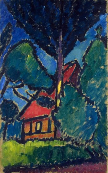 Landscape with a Red Roof | Jawlensky Alexej von | oil painting