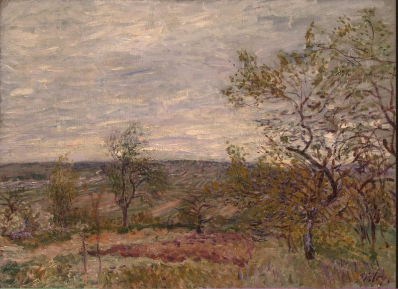Windy Day at Veneux   Sisley Alfred   oil painting