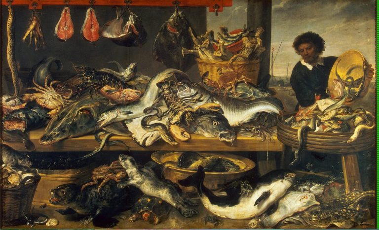 Fish Market   Snyders Frans   oil painting