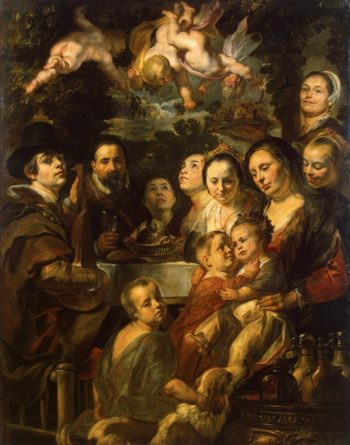 Self-Portrait with Parents Brothers and Sisters | Jordaens Jacob | oil painting