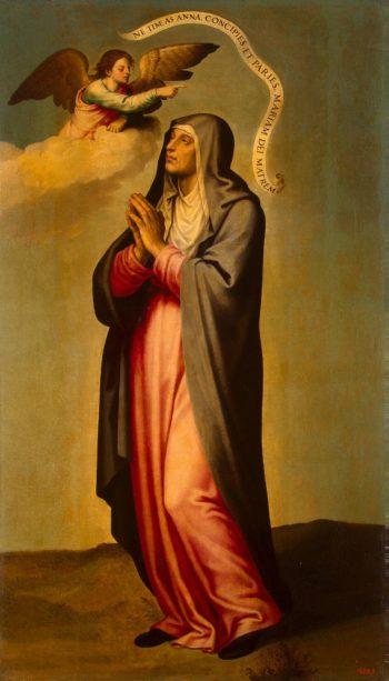 Annunciation to St Anne | Juan de Juanes (Juan Macip Vicente) | oil painting