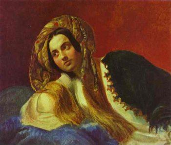 A Turkish Girl | Karl Briullov | oil painting