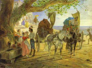 Fete in Albano | Karl Briullov | oil painting