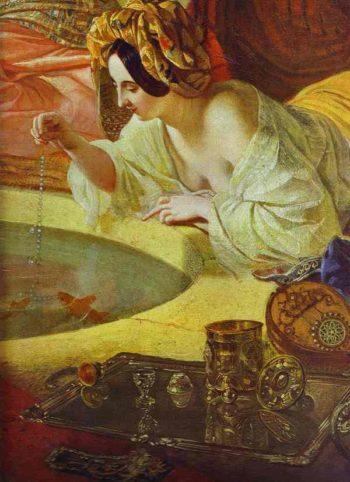Fountain in Bakhchi Sarai b | Karl Briullov | oil painting