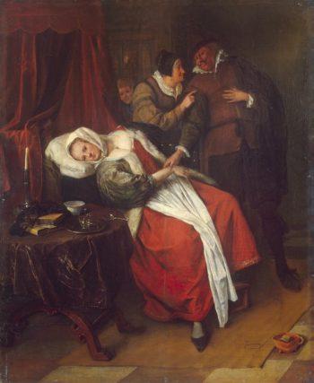 Doctors Visit | Steen Jan | oil painting