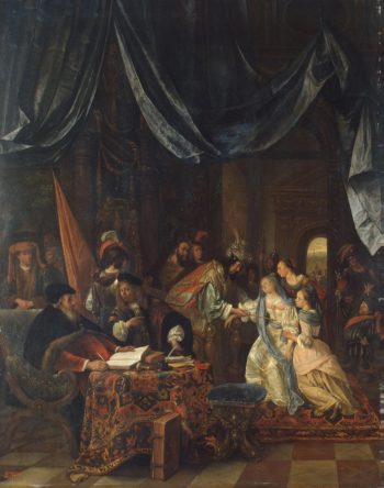 Esther before Ahasuerus | Steen Jan | oil painting