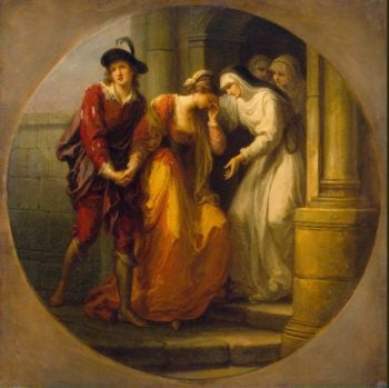 Parting of Abelard and Heloise | Kauffman Angelica | oil painting