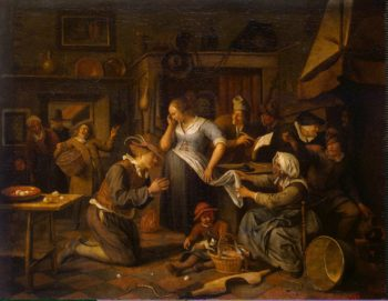 Marriage Contract | Steen Jan | oil painting