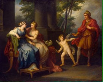 Venus Induces Helen to Fall in Love with Paris | Kauffman Angelica | oil painting