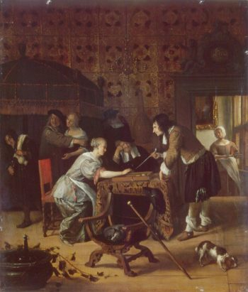 Tric-Trac Players | Steen Jan | oil painting