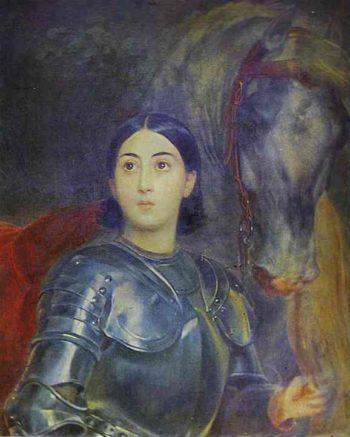 Juliet Tittoni as Jeanna D Ark | Karl Briullov | oil painting