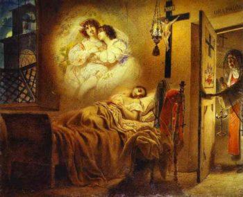 Nun s Dream | Karl Briullov | oil painting