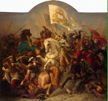 Joan of Arc in Battle (Central Part of The Life of Joan of Arc Triptych) | Stilke Hermann Anton | oil painting