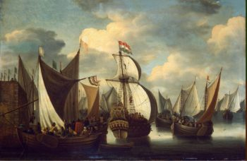 View of a Harbour | Storck Jacob | oil painting