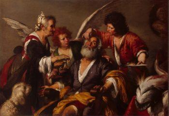 Healing of Tobit | Strozzi Bernardo (Il Prete Genovese) | oil painting