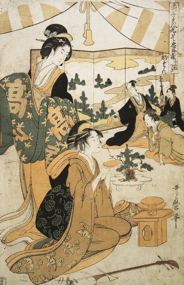 Act I Recognition of the Helmet | Kitagawa Utamaro | oil painting