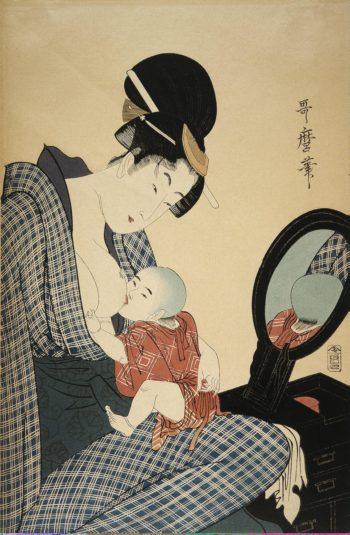 Mother and Child | Kitagawa Utamaro | oil painting