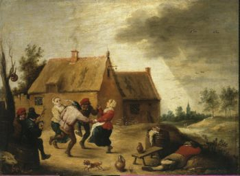 Dancing Peasants | Teniers Abraham | oil painting