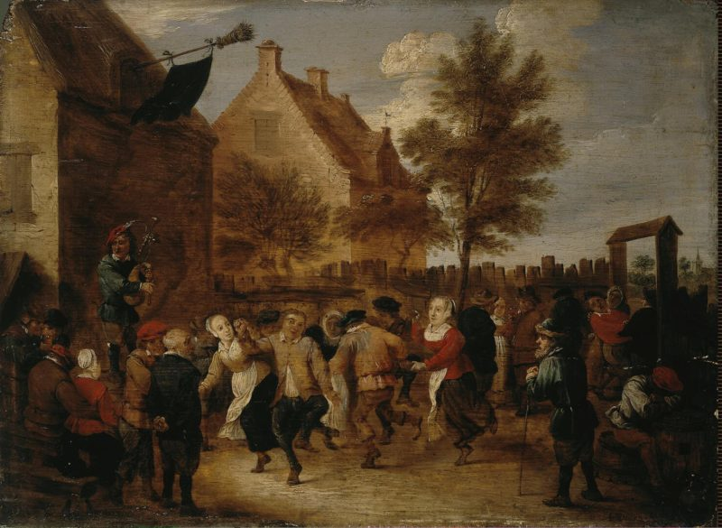 Rural Feast   Teniers Abraham   oil painting