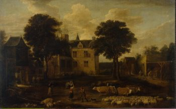 Court of the Dry Toren Castle   Teniers David II (circle)   oil painting