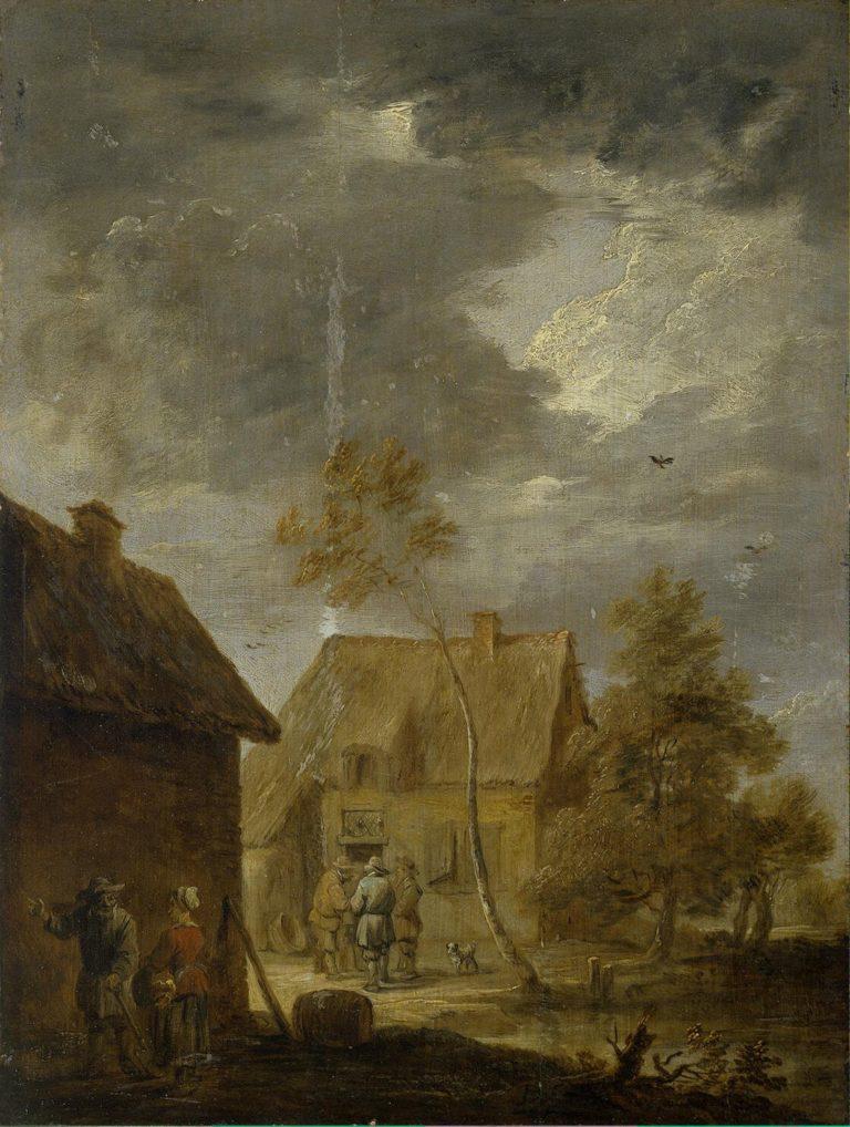 Yard of Peasant House | Teniers David II (circle) | oil painting