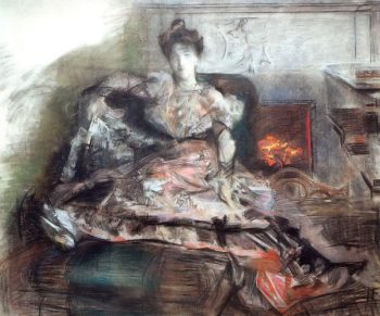 After the Concert Portrait of Nadezhda Zabela Vrubel (unfinished)   Mikhail Vrubel   oil painting