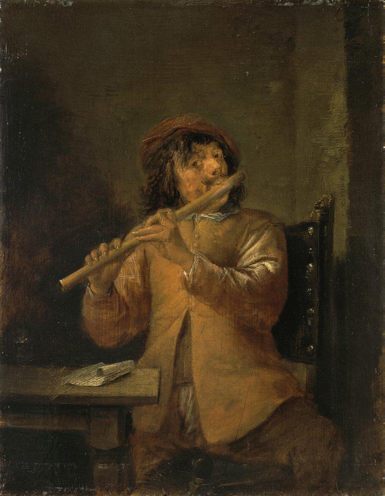 Flautist | Teniers David II | oil painting