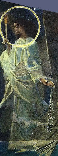 Angel with a Censer   Mikhail Vrubel   oil painting