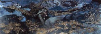 Demon Overthrown | Mikhail Vrubel | oil painting