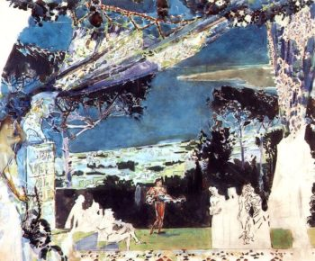 Italy Night in Naples   Mikhail Vrubel   oil painting