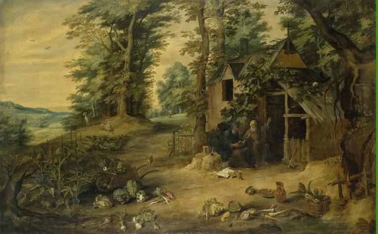 Landscape (Meeting of St. Antony and St Paul) | Teniers David II | oil painting