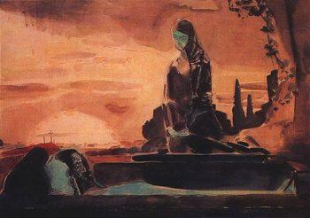 lamentation | Mikhail Vrubel | oil painting