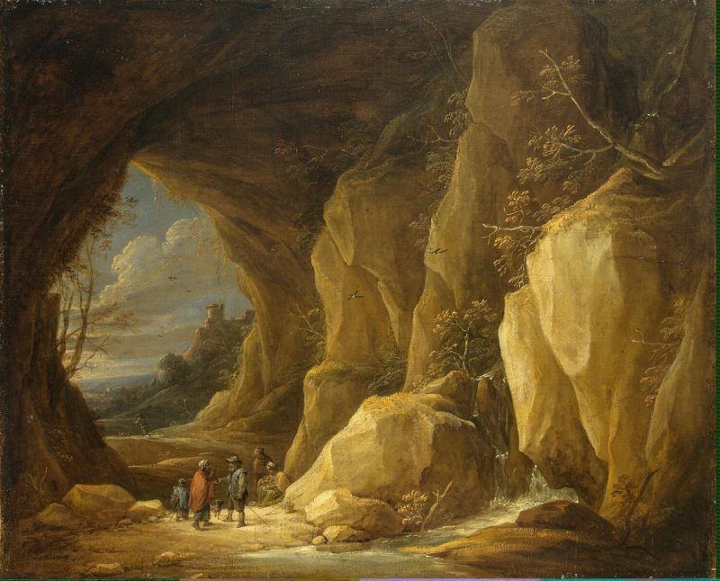 Landscape with a Grotto and a Group of Gipsies   Teniers David II   oil painting