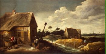 Landscape with a Maid at the Well | Teniers David II | oil painting
