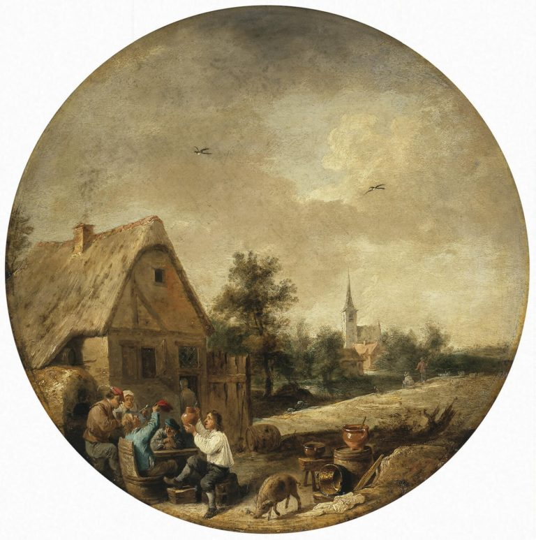 Landscape with a Rural Tavern | Teniers David II | oil painting