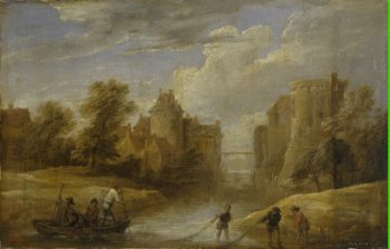 Landscape with Fishermen | Teniers David II | oil painting
