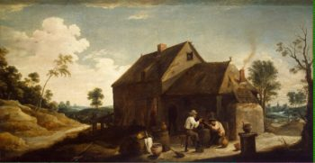 Landscape with Peasants before an Inn | Teniers David II | oil painting