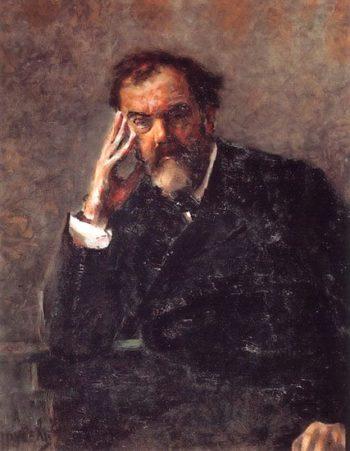 Portrait of Pyotr Konchalovsky   Mikhail Vrubel   oil painting