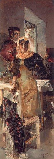 spain   Mikhail Vrubel   oil painting