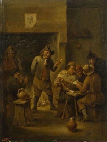 Peasants in a Tavern | Teniers David II | oil painting