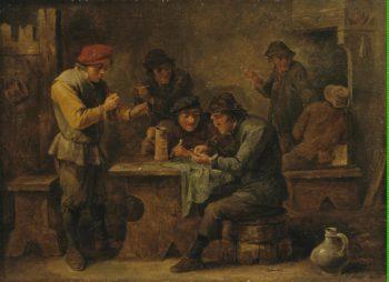 Peasants Playing Dice | Teniers David II | oil painting