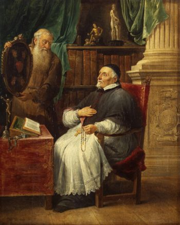 Portrait of Gent`s Bishop Antonius Triest and His Brother Eugene a Capuchin | Teniers David II | oil painting